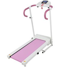 Pink 500W Portable Folding Electric Motorized Treadmill Running Fitness Machine…