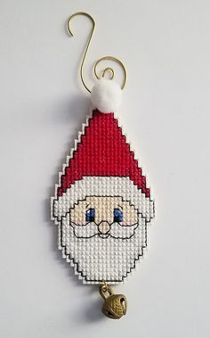 Santa Cross Stitch, Dragon Cross Stitch, Mini Cross Stitch, Cross Stitch Needles, Cross Stitch Cards, Cross Stitch Alphabet, Cross Stitching, Cross Stitch Embroidery, Cross Stitch Christmas Ornaments
