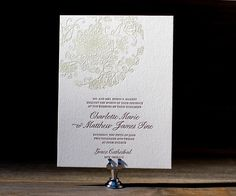 Salutations Runway Edition, Letterpress Wedding Invitation by Bella Figura