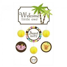 Welcome Little One Mobile - http://www.247babygifts.net/welcome-little-one-mobile/