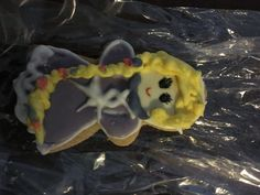 Galleta Rapunzel. Decorada con icing.