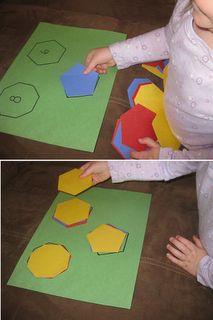 Sorting pentagons, hexagons and octagons. Preschool Literacy, Homeschool Math, Preschool Centers, Pre K Activities, Kindergarten Activities, Shape Activities, Christian Preschool, Teaching Shapes, Tot School