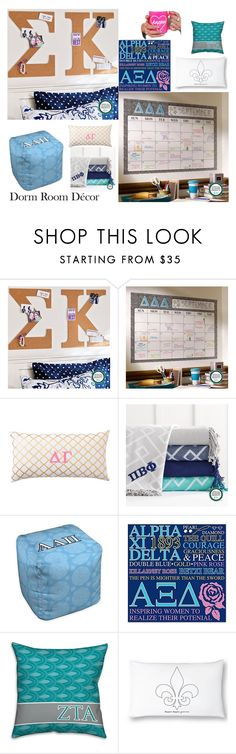 """""""It's all Greek to me!"""" by txlolly on Polyvore featuring interior, interiors, interior design, home, home decor, interior decorating, PBteen, sorority and dormroomstyle"""