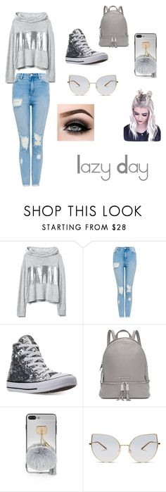 """Lazy Day"" by apoch on Polyvore featuring moda, Converse, Michael Kors, GlassesUSA y ASAP"