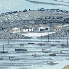 "Matt Johnson on Instagram: ""Panoramic illustration of St Mary's Harbour, looking down from the Garrison. #islesofscilly #coastalart #seasaltcornwall #britishcoast…"" Seaside Theme, The Garrison, Coastal Art, Saints, Mary, Illustration, Instagram, Illustrations"