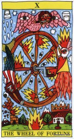 X. The Wheel of Fortune - Tarot del Fuego by Ricardo Cavolo