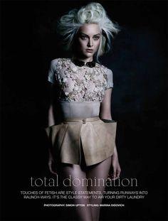 Total Domination  Fashion Quarterly NZ Spring 2012  Shot by: Simon Upton   Model: Ollie Henderson