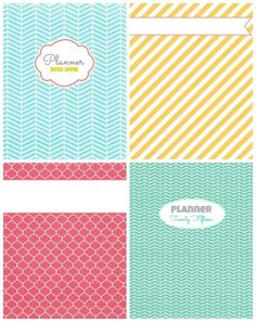 planners cover collage