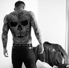 stephen james back tattoo Backpiece Tattoo, Skull Tattoos, Body Art Tattoos, Sleeve Tattoos, Tatoos, Tattoo Forearm, Tattoo Sleeves, Dragon Tattoos, Leg Tattoos