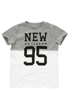 Buy Grey White 95 NY T-Shirt (3-16yrs) from the Next UK online shop
