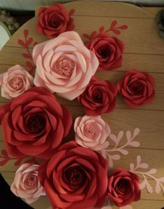 Paper Flower Wall, Flower Wall Decor, Paper Flowers, Rose, Plants, Pink, Plant, Roses, Planets