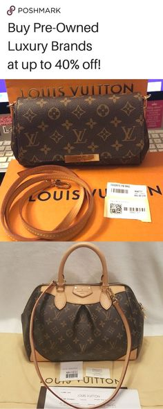 7ab313265224 Find luxury brands like Louis Vuitton up to 40% off! Shop for authentic bags