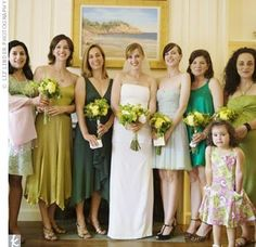 Wedding Stories: Nuptial Trends: Green & Yellow!