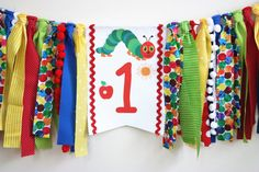 The Very Hungry Caterpillar Highchair banner 1st by MyLittleBoobug