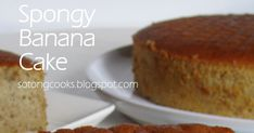 I have been captivated by this Spongy Banana Cake (from Wen's Delight here ) the first time I saw it. It seems this cake is very popular . Banana Walnut Cake, Banana Bread Cake, Moist Banana Bread, Carrot Cake, Moist Banana Cake Recipe, Easy Vanilla Cake Recipe, Banana Recipes, Easy Baking Recipes, Bread Recipes