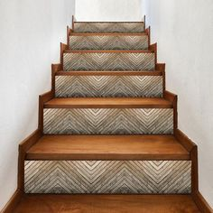 White Beadboard, Peel And Stick Vinyl, Custom Plates, Stair Risers, Wood Stairs, Switch Plate Covers, Weathered Wood, Make Arrangements, Brown Wood
