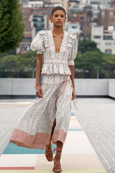 Fashion Week, Fashion 2020, New York Fashion, Spring Fashion, Fashion Show, Fashion Outfits, Fashion Trends, Ulla Johnson Dress, Resort Dresses