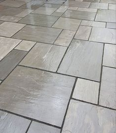 Kandla Grey Sandstone - Patio Slabs - Paving Stones - Nustone Create a traditional feel to your gard Grey Paving, Paving Stone Patio, Patio Slabs, Paved Patio, Paving Stones, Stone Patios, Patio Stone, Garden Slabs, Garden Tiles