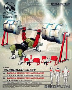 chest exercise: chest bench press with bands