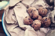 chocolate coconut protein cookie dough balls