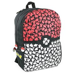 BIOWORLD Pokemon Pokeball Backpack with Trainer Bag Charm