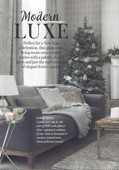 Dwell's Emmen sofa takes centre stage in Good Homes' Modern Luxe feature