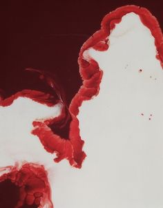 photos of blood & milk, by Frederic Fontenoy