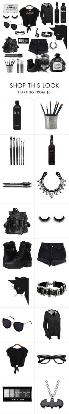 """""""Untitled #176"""" by pan-slytherin-unicorn-materialki ❤ liked on Polyvore featuring CASSETTE, Match, Paper Mate, Joe's Jeans, Blondo, Levi's, Marc Jacobs, Champion, EyeBuyDirect.com and L.A. Colors"""