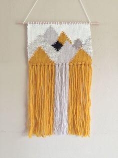 Woven Tapestry / Mountains / Woven Wall Hanging by jamieep on Etsy
