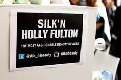 Backstage at Holly Fulton with Silk'n Beauty SS15 LFW