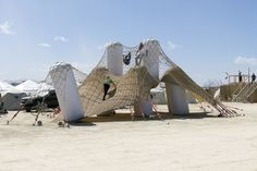 Inflatable Playascape, PneuHaus, Burning Man 2015 - Playscapes