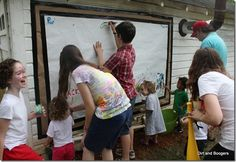 Wall painting - birthday party activity