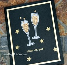stampin up new years handmade card
