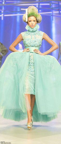 Amato by Furne One S/S 2014 Couture - Modern interpretation of Rococo