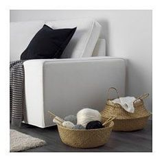 Store your clutter in beautiful, well-made storage baskets from IKEA. We offer baskets in many materials, such as wicker and fabric. Small Storage, Storage Boxes, Storage Baskets, Wicker Furniture, Home Furniture, Ikea Shopping, Ikea Home, Gras, Minimalist Home