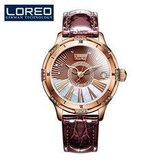 445b5d966c4 2017 Nova Alta Qualidade Luxo Cristal de Diamante Vestido de Relógios Das  Mulheres Relógio De Ouro Da Moda de Aço Relógio de Pulso Automático relógio  À ...