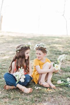Spring Flower Crowns for Tiffani Theissen's Secret Garden Fashion  Florals // THE CROWN COLLECTIVE www.thecrowncollective.co
