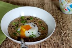Savory Oatmeal With Scallions, Soy Sauce, and an Egg