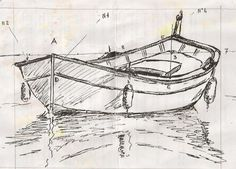 "Drawing and painting - vidéo Draw a boat and the ""pointu provençal"" . Boat Drawing, Ship Drawing, Drawing Sketches, Pencil Art, Pencil Drawings, Art Drawings, Drawing Lessons, Drawing Techniques, Boat Painting"