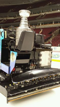 The Cup on the #Hawks zamboni.