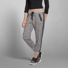 Womens Eve Textured Joggers | Womens Sweatpants & Joggers | Abercrombie.com