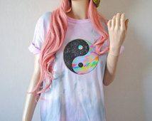 Yin Yang paix Tie Dye T-Shirt