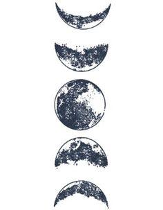 Cool Art Drawings, Pencil Art Drawings, Tattoo Drawings, Art Sketches, Moon Sketches, Moon Phases Drawing, Moon Drawing, Moon Phases Art, Realistic Moon Tattoo