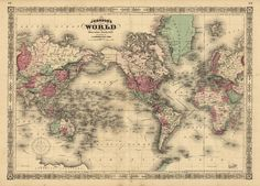 The Old Print Shop-world map