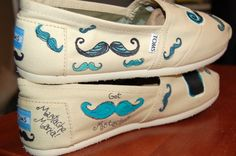 custom mustache #TOMS from the purple lizard studio on #Etsy! go check her out!  For Christina :{)