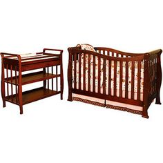 AFG - Athena Nadia 3-in-1 Crib, Changing Table & Mattress Bundle, Espresso- collect the whole set :-)