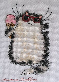 Summer Cool Cat by Margaret Sherry (cross-stitch)