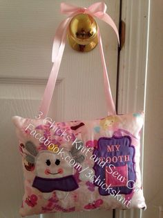 Items similar to Tooth Fairy Embroidered Pillow For Girls on Etsy Tooth Fairy Pillow, Teeth, Embroidery Designs, My Etsy Shop, Reusable Tote Bags, Pillows, Knitting, Sewing, Girls