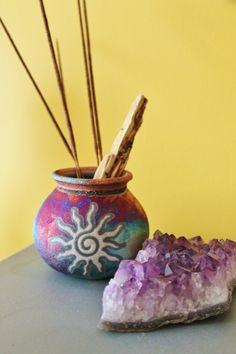 Amethyst and incense - both Aquarian things...