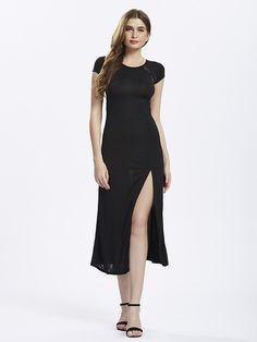 $24.50  Women Split Long Black Lace Prom Maxi Slit Evening dress is one beautiful sexy maxi dress which is just perfect for different occasions like prom, parties.    #MAXIDRESSESS #PROMDRESS #SPRINGDRESSES #SUMMERDRESSES #WOMENDRESSES #WOMENFASHION
